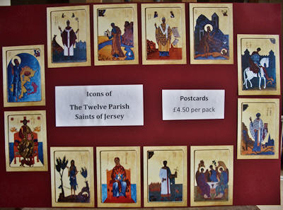 Parish Saints of Jersey postcards �4.50 per pack